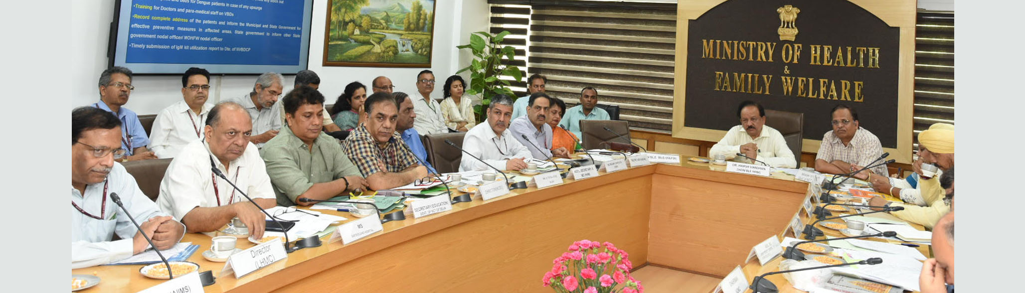 Meeting on Vector Borne Diseases in Delhi Status Preparedness